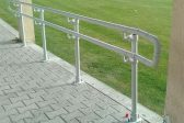 White ADA compliant railing