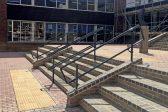 Black handrails