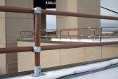 Brown guardrail