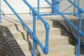 Light blue handrail
