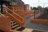 Orange railing