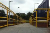 Yellow handrails