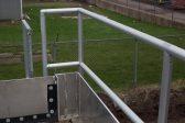 Smooth aluminum railing
