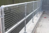 Silver guardrail with infill panels