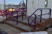 Purple guardrail